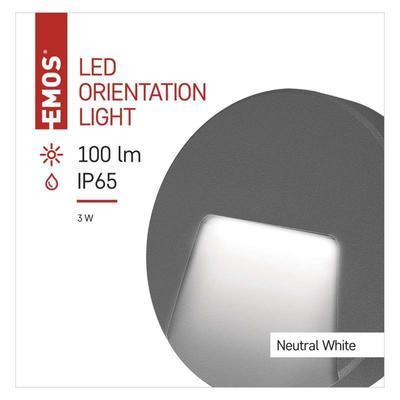 Emos ZC0113 LED orientační přisazené svítidlo, 3W neutrální bílá, IP65 - 2