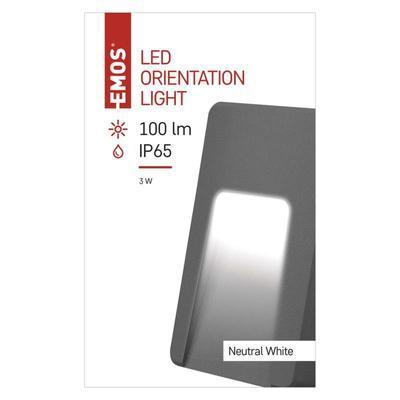 Emos ZC0115 LED orientační přisazené svítidlo, 3W neutrální bílá, IP65 - 2