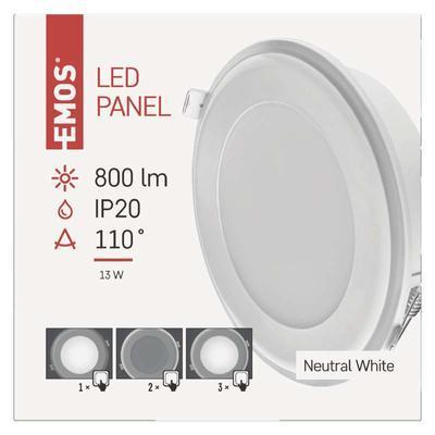 Emos ZD 1322 LED panel 2v1 148mm, kruhový vestavný, 13W neutrální bílá - 2