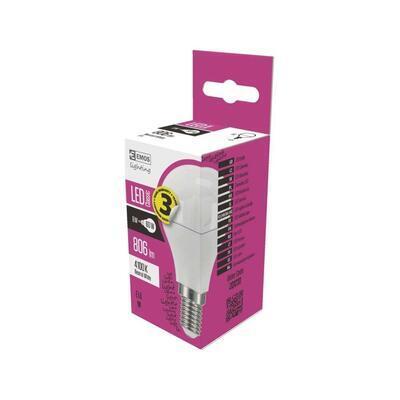 Emos ZQ 1231 LED žárovka Classic Mini Globe 8W E14 neutrální bílá - 2