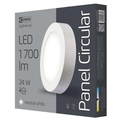 Emos ZM5152 LED panel 300mm, kruhový přisazený bílý, 24W neutrální bílá - 2