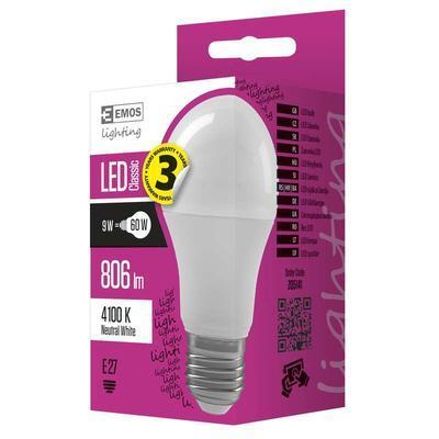 Emos ZQ5141 LED žárovka Classic A60 9W E27 neutrální bílá - 2