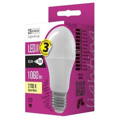 Emos  ZQ5150 LED žárovka Classic A60 10,5W E27 teplá bílá - 2