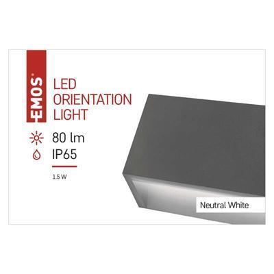 Emos ZC0116 LED orientační přisazené svítidlo, 1,5W neutrální bílá, IP65 - 3