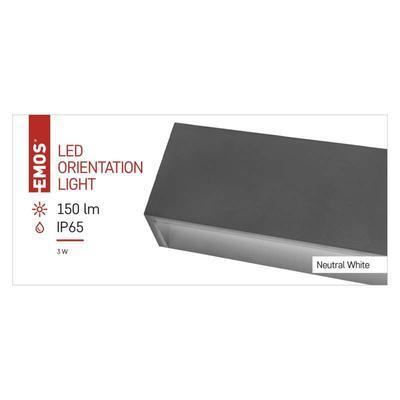 Emos ZC0117 LED orientační přisazené svítidlo, 3W neutrální bílá, IP65 - 3