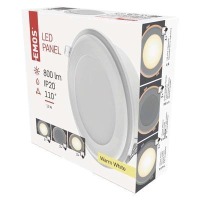Emos ZD 1321 LED panel 2v1 148mm, kruhový vestavný, 13W teple bílá - 3