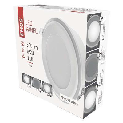 Emos ZD 1322 LED panel 2v1 148mm, kruhový vestavný, 13W neutrální bílá - 3